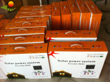 Solar power system with solar charger solar lighting kits with remote