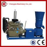 diesel engine driven wood pellet making machine