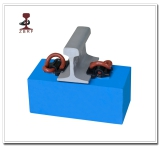 E rail clip rail fastening system for high speed railway construction