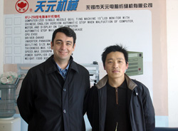 Mr.Chen Gong with MEXICAN customer