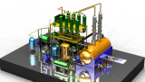 Double tower engine oil recycling distillaiton plant 15TPD