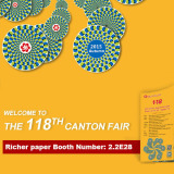 Richer paper invitation to Third Session of the 118th Canton Fair from 31st, October to 4th, Novembe