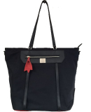 2016new Design Nylon Withe Leather Ladies Tote Hand Bags (1607-47)