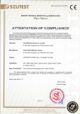 CE Certificate of Automatic Paper Roll to Sheet Cutter