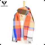 2017 Latest Multicolor Soft Acrylic Checked Plaid Scarf Pashmina