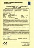 CE Certificates of jet ski