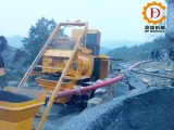 Truck Mounted Concrete Mixer Pump in Changde city, Hunan province