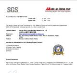 Sino Cheer SGS Ceritfied
