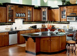 classical solid wood kitchen cabinets