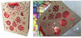Hot stamping on brown kraft paper bag