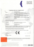 2005 CE Certificate for BOWAY Perfect Binder 950