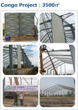 Prefabricated Steel Structure Warehouse Project in Congo