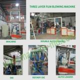 Three layers film blowing machine