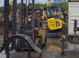Loading Komatsu PC55MR-2 Mini Digger Excavator