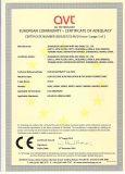 CE certificate of LOW VOLTAGE XLPE INSULATED CABLE