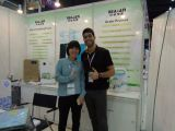 Many customer come to our booth for air purifier
