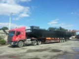 excavator barge to Harbin