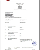 EEC Certificate for Xgy Model Electric Scooter