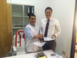 WITH LEBANON CLIENT SIGNING CONTRACT