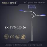 Double Arm 30W LED Light Source Solar Street Light
