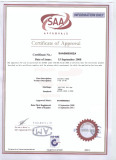 Australia Standard Certificate