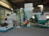 Malaysia 1t/h rice husk pellet production line