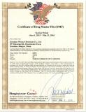 U.S.FDA DMF No.-Canister Desiccant