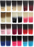 Colorful clip on hair extension synthetic hair extension heat resistant fiber,kanekalon