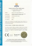 CE certificate for sanitary pipe fittings