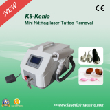 Portable 1064nm 532nm q switch nd yag laser tattoo with CE K8