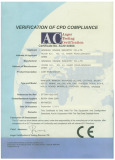 CE certificate for stove