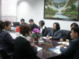 Meeting in office