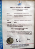 CE Certificate of Cartoning Machine
