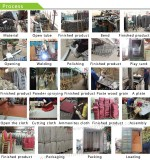 Imitated wooden chair production process