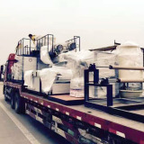French customers to buy air bubble film making machine and bag making machine