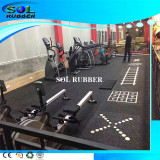 Special pattern and LOGO DIY Gym Rubber Flooring