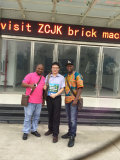 Guinean Client visited ZCJK block making machine in Wuhan