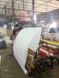 Preparing the fabrics for cutting