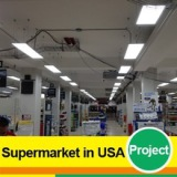 LED Panel Light in Supermarket