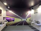 Tunnel lighting showroom