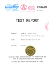 Type test certificate for Surge arrester by XIHARI