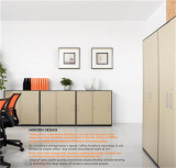 Steel low storage cabinet office furniture with sliding doors metal hands/file cabinet