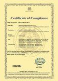 RoHS Certificate of Led Auto Light