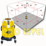 Multi-Line 4V4H1D Electronic Auto-Leveling Laser Level(ECHO787P)