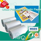 BOPP based offset UV flexible screen printable synthetic paper