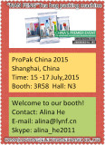ProPak China 2015 Shanghai city, China