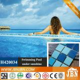 Swimming Pool Ocean Blue Glass Mosaic (H420034)