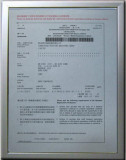 Certificate for Printer
