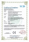 CE-LVD CERTIFICATE FOR LED LIGHTING FIXTURE