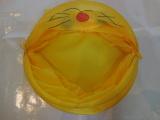 cute lovely waterproof foldable yellow laundry hamper storage box